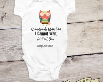 Pregnancy Reveal to Grandparents Baby Announcement Onesie® Personalized Baby Announcement Going to Be a Grandma Going to Be a Grandpa