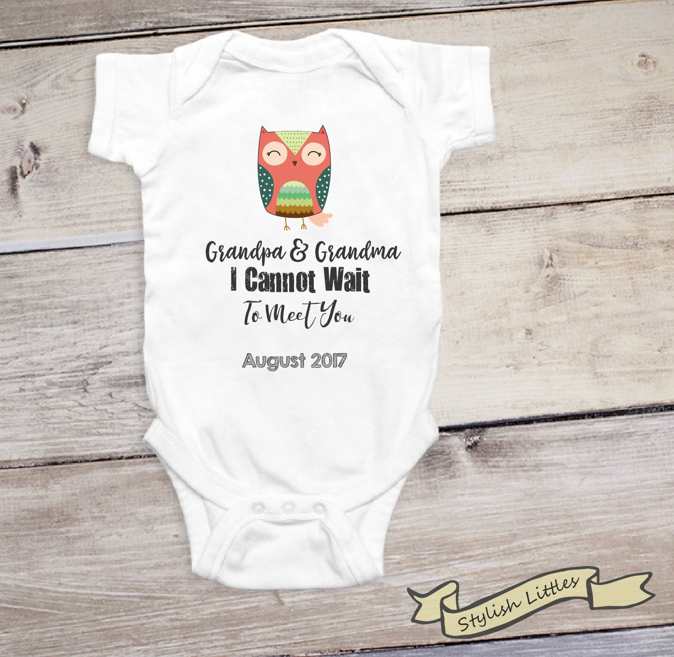 033b899d5 Grandpa and Grandma Baby Announcement for Grandparents ...