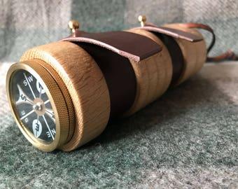 Ultimate Deluxe Adventure Bushcraft Survival pocket fishing kit in Oak