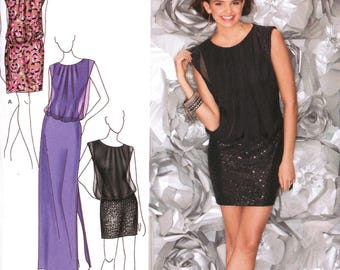 SIMPLICITY 1658 sewing pattern.  Jessica McClintock designer dress pattern.  Size 14-16-18-20-22  New.  Uncut.  Factory folded.