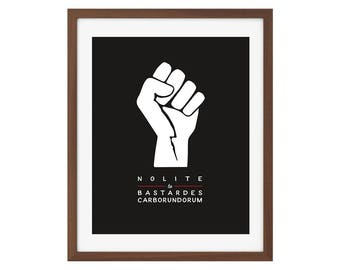 Nolite te bastardes carborundorum/Don't let the bastards grind you down - The Handmaid's Tale quote art print, feminist quote print