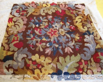 Vintage French Needlepoint Tapestry