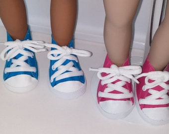 American Girl Doll size  High top sneakers --available in two colors