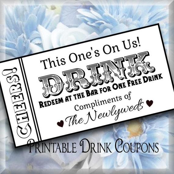Drink tickets diy wedding printable instant download digital drink tickets diy wedding printable instant download digital bar tickets do it yourself solutioingenieria Image collections