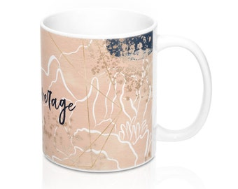 Blush And Navy Dreamy Mug 11Oz