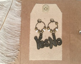 Wine Glass Charms Magnet - YES/ NO