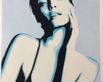 BLUE LOVE Limited Edition Graffitiart print