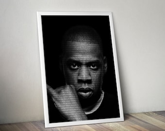 Jay Z Poster Music Song Lyric Typography  Word Art Print