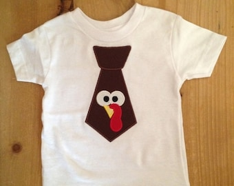 Turkey Tie Thanksgiving Baby Bodysuit or Shirt