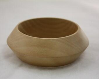 Wooden Bangle Craft Raw Wood Stacking Bracelet 63mm Inner Diameter