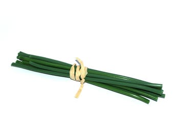 10 Covered Stems for DIY Bouquets - 7 - 9 inches