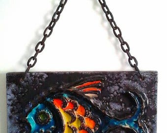 Vintage Carstens 'Luxus' West Germany Plaque - Fish
