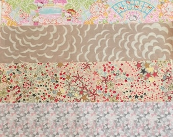 shades of pink - liberty of london - special limited edition print set  -25x25cmx 4pcs