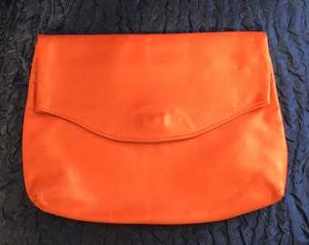 Vintage 80's Red Leather Clutch