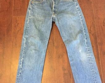 Closing Shop SALE 80s 90s  LEVIS jeans 501  W 32 Waist, Button fly 501s Levis