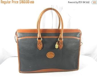 15% SUMMER SALE Genuine vintage DOONEY & Bourke black leather briefcase attache 80S