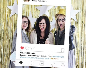 Instagram Frame, DIY Photo Booth Prop, Birthday Party Photo Booth Prop, Wedding, Graduation, Bridal Shower, Prom, Social Media Frame