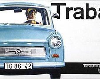 Vintage East German Trabant Motor Ad A3 / A2 Print