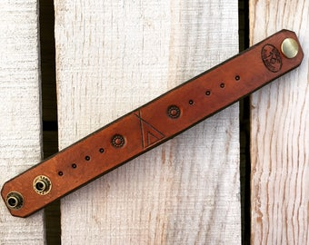 Tee Pee Leather Cuff Bracelet