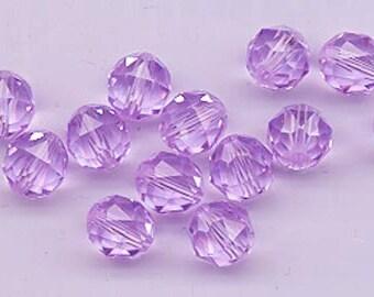 Twelve Swarovski crystals - art 5025 - 8 mm - violet