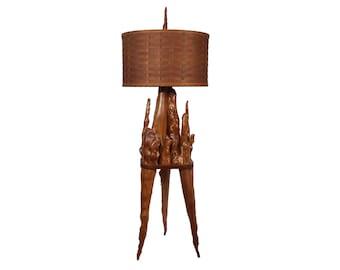 Vintage wooden floor lamps etsy cypress knee floor lamp mid century lighting table lamp vintage wood aloadofball Image collections