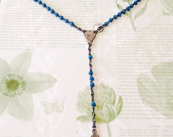 Vintage 5 Decade Rosary/vintage rosary/italy rosary/rosary beads/prayer beads/five decade rosary/cross/cross necklace/crucifix/catholic