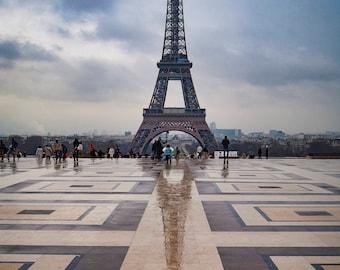 Paris Photography, Eiffel Tower and Reflection, Fine Art Photography, Wall Art, Paris Art, Home Decor, Randy Harris