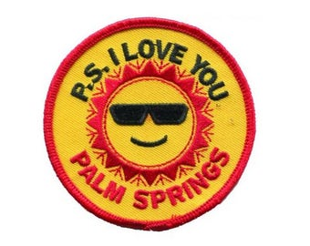 Palm Springs California Patch - PS I Love You (Iron on)