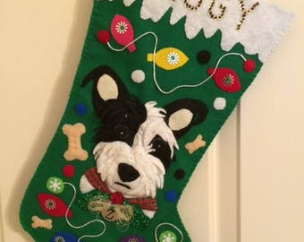 Custom Pet Christmas Stocking - Made From Your Pet's Photo!