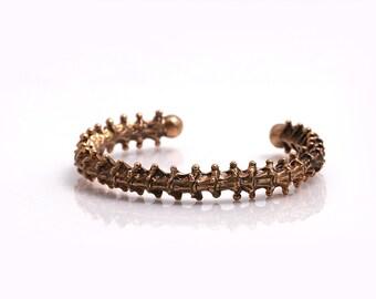 Bronze Bracelet, Cuff Bracelet, Bone Bracelet, Men's Bracelet,