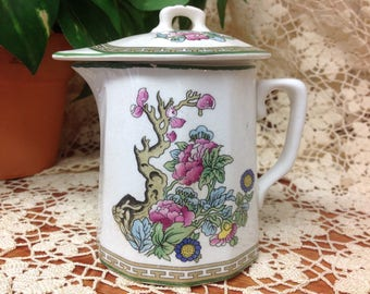Indian Tree / Covered Pitcher / Covered Jug / Indian Tree Creamer /Knowles Taylor & Knowles