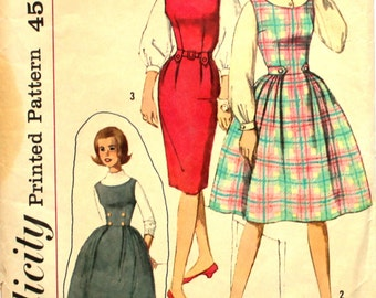 Slim or Full Dress Bust 29 Simplicity 4020 Size 10s