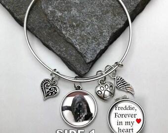 Pet Memorial Charm Bracelet, Forever in my heart, Photo Memorial Bracelet, Memorial Charm Bracelet, Pet Photo Bracelet