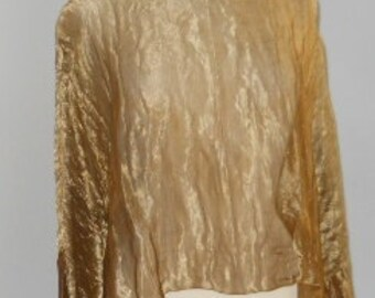 Copper Metallic Silk Blouse