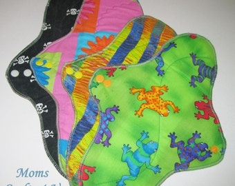 Variety Pack ... POSTPARTUM Mama Pads With Wings SET of 4 ..  12 and 14 inch Heavy Absorbency  FREE Shipping