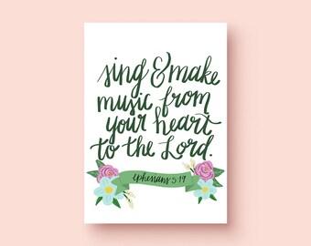 Ephesians 5:19 Print
