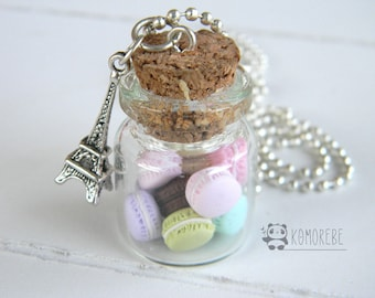 Macarons Paris, flask necklace, necklace