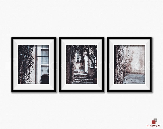 BLACK FRAME MOCKUP 8x10, Set of 3, Frame mockup, Empty Frame, Styled Stock Photography, Product Background Mockup - 40% Discount in April