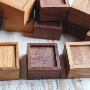 Wooden Mini Boxes, Tiger Oak, Walnut, Elm, Rustic Reclaimed Lumber, Olde Timber Workshop, OTW, Wood Boxes, Handcrafted Gift Ideas