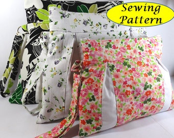 girl Wristlet travel make up cosmetic pouch Bag Tutorial pdf sewing pattern patterns instant download tutorials pdf tutorial printable ebook