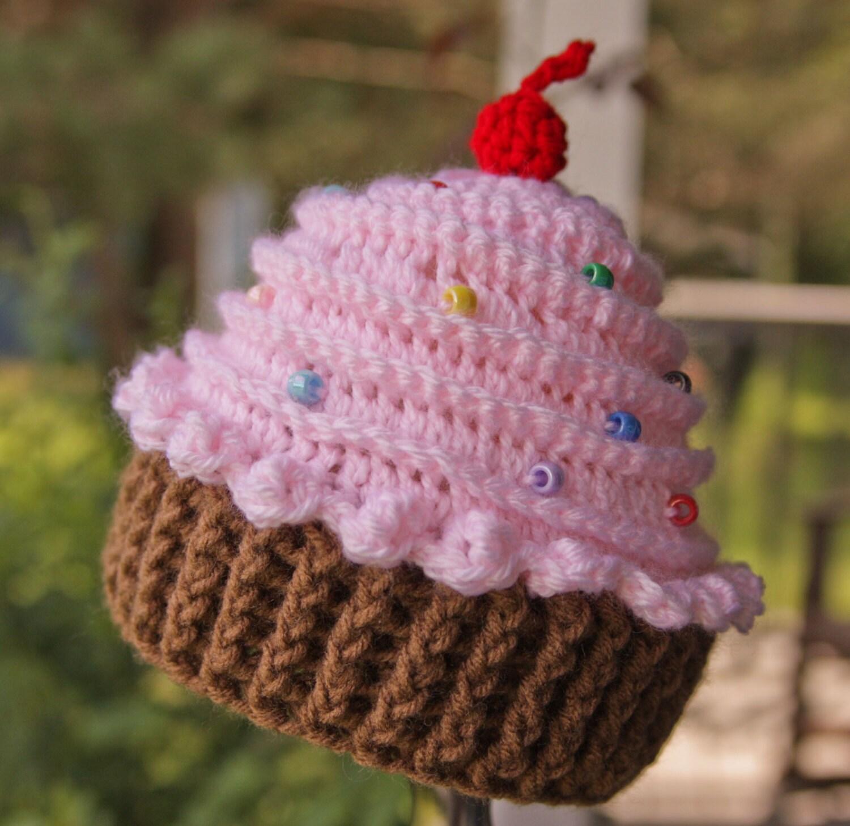 Cupcake Hat Crochet Cupcake hat Baby Girl Hat