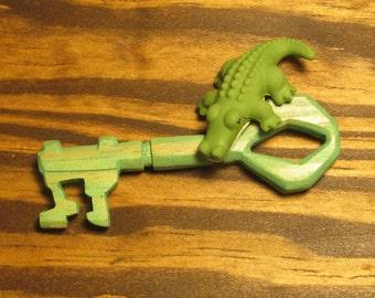 Hand-carved Wooden Croc Key OOAK
