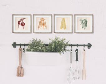 Farmhouse Kitchen Decor - Kitchen Wall Decor - Kitchen Art - Dining Room Decor - Garden Art - Food Art - Housewarming Gift - Vegetable Print