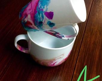 Custom painted mugs