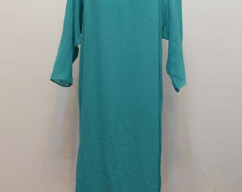 Teal Sheer Maxi Dress | Beach Cover Up | Nancy G