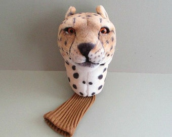 Cheetah Golf Club Cover Golf Head Cover Golf Gift Fathers Day Gift Golf Accessory Golf Headcover Golf Club Head Cover Driver Headcover Cat