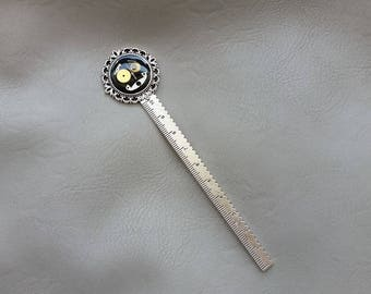 Bookmark, ruler, steampunk watch parts and resin