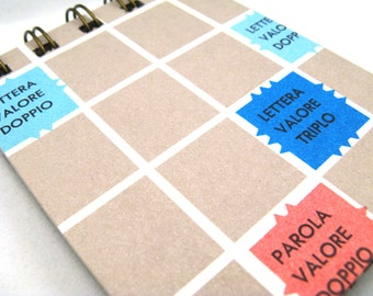 Italian Scrabble board notepad - small