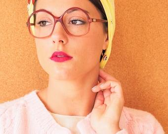 Vintage 70's Eyeglasses By Opitque Du Monde/ Two Tone Glasses/ New Old Stock Frames /Oversize/ Retro/ Disco/ Vintage Frames
