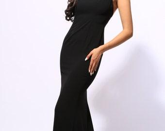 Sasha's Black Red Carpet Gown with Swarovski Straps